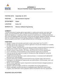 Best Solutions Of Lead Test Engineer Sample Resume 4 Software Qa