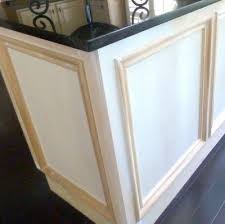 set cabinet full mini summer: add molding to builders cabinets then paint all one color easy and cheap way to