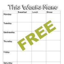 Sample Breakfast Menu Template Interesting Free Blank Menu Planning Template And Weekly Menu Plan Example