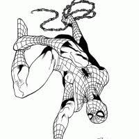 Kleurplaat Masker Spiderman