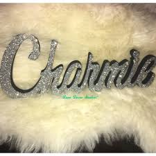 glittered name word signs kids personalized wooden name signs children s name wall decor wooden letters wooden names wall
