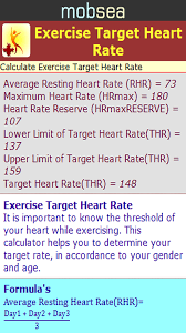 Target Heart Rate By Age And Gender Chart Amazon Com Exercise Target Heart Rate Calculator Appstore