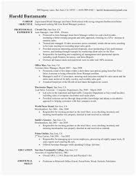 Retail Resume Objective Examples 77 Unique Pictures Of Sales Resume Objective Examples Best