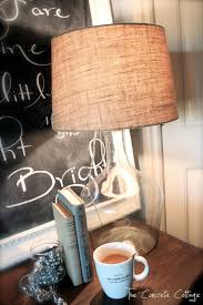 Glass Bottle Lamps The Concrete Cottage Glass Bottle Lamp Diy Pottery Barn Knock Off