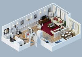 Apartment Designs Shown With Rendered 40D Floor Plans Fascinating Apartments Floor Plans Design Style