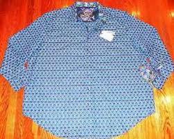 Robert Graham Size Chart Details About Robert Graham Mens Authentic Brand New Blue Dress Shirt Size 3xl Big Tall Nwt