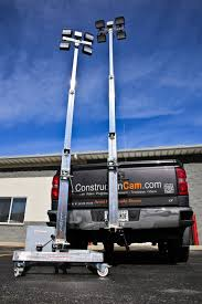 Portable Light Carts Reese Hitch Light Tower Constructioncam