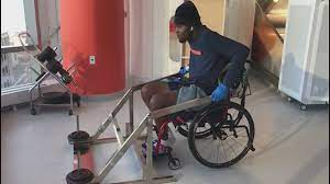 After accident left him paralyzed ...