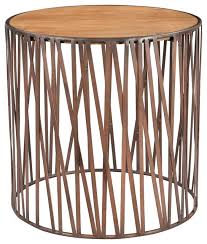 redondo round end table industrial