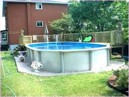 above ground swimming pool ideas. Small Yard Above Ground Pool Ideas Swimming