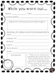 absent homework sheet