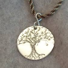 hand engraved silver tree of life pendant tree of life by gbjewel tree jewelry