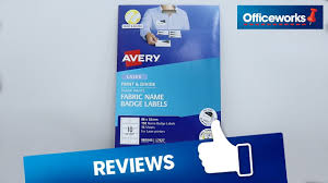 How To Print Avery Name Badges Avery Fabric Name Badge Labels