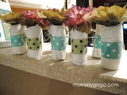 homemade baby shower centerpiece ideas mini baby diaper