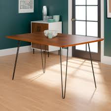 Hairpin dining table Nepinetwork We Furniture 60 In Walnut Hairpin Leg Dining Table The Home Depot We Furniture 60 In Walnut Hairpin Leg Dining Tablehdw60hpdwt The
