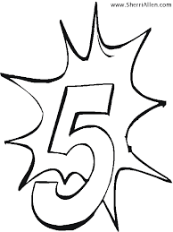 Small Picture Free Numbers Coloring Pages from SherriAllencom
