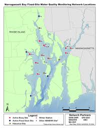 Narragansett Bay Chart Fixed Site Monitoring Stations And Data In Narragansett Bay
