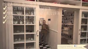 Parete attrezzata cabina armadio progetto bagno