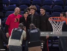 LaVar Ball with his wife Tina Ball and ...