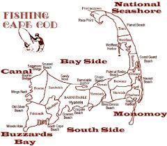 Cape Cod Fishing Map
