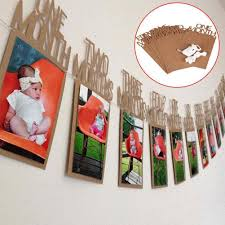 product details of diy monthly paper 1st one year photo booth birthday banner string flag accesorios photo frame photos al party decoration