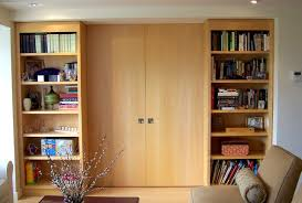 Bookcase Divider Wall with Pocket Doors contemporary-living-room