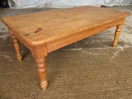 pine coffee table. Victorian Pine Coffee Table On Turned Legs