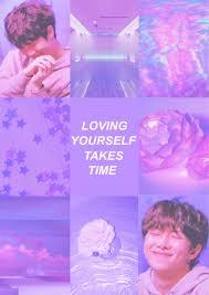 Purple/pink self-love Namjoon aesthetic ...