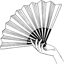 hand fan drawing black and white ceiling fans