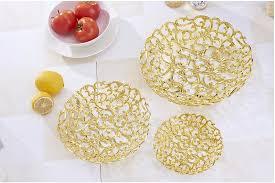 Decorative Plastic Trays Hollow Ou Fruit Plate With Gold Plating Decorative Plastic Tray 2