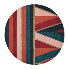 sahara round rug 150cm burdy