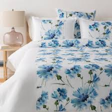 eerika blue king ca king duvet set