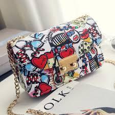 2019 <b>New Women Bags</b> Summer Graffiti Ladies designer handbags ...
