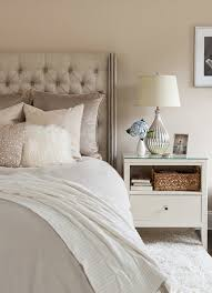 White Shag Rug In Bedroom Pale Mauve Walls Paint Color Gray Linen Tufted To Models Ideas