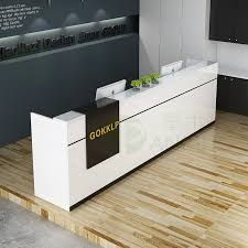 front office counter furniture. Office Furniture Front Desk Counter Cashier Bar Welcome Company Minimalist