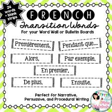 French Transition Words Sentence Starters To Enhance Writing