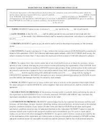Basic Apartment Lease Simple Rental Agreement Contract Template ...