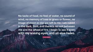 "Memory Quotes Gorgeous J R R Tolkien Quote ""No Taste Of Food No Feel Of Water No"