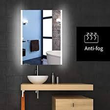 frameless bathroom vanity mirror. Backlit Lighted LED Bathroom Vanity Mirror Frameless Wall Antifogging  Illuminated Rectangle Frameless Bathroom Vanity Mirror