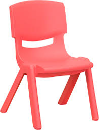 Plastic Stackable Preschool Chair 105 Inch Seat Height