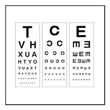 Distance Vision Chart