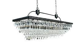 modern rectangular crystal chandelier with shade and crystals full size
