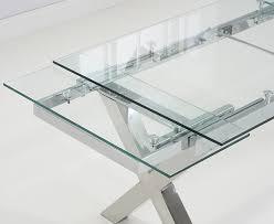 mark harris cilento glass rectangular extending dining set with 6 malibu grey chairs 160cm