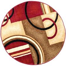 10 foot round indoor outdoor rug barclay arcs and shapes red 5 ft 3 with design