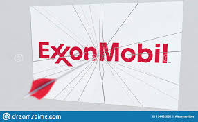 Exxon Logo Designer Exxon Mobil Company Logo Being Cracked By Archery Arrow