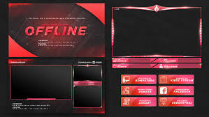 Twitch Stream Design Free Twitch Stream Overlay Template 2018 On Behance Twitch