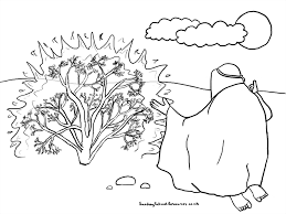 Small Picture Sunday School Moses Bible Coloring Pages