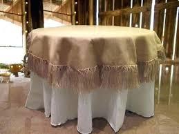 burlap overlays square table
