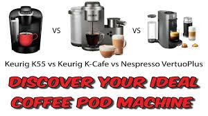 Keurig K55 Vs Keurig K Cafe Vs Nespresso Vertuoplus Youtube