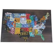 wooden usa license plate map pub bar wall art wood u s a auto car tag plates on license plate map wall art with license plate map ebay